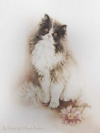 Cat wit Flowers Prints at RedBubble