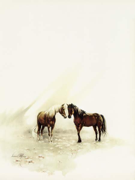 Horses Meeting by Sara Moon
