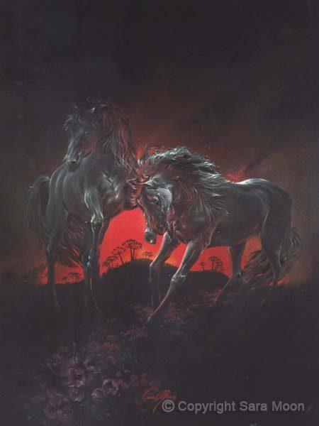 """""""Dark Horses"""" by Sara Moon"""