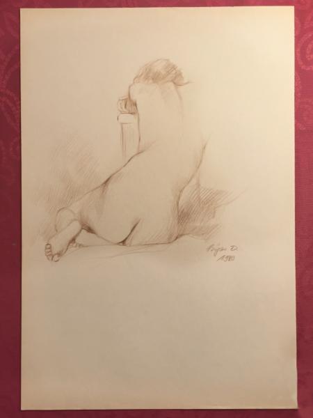 Nude Figure 1980 Signed Bijan D