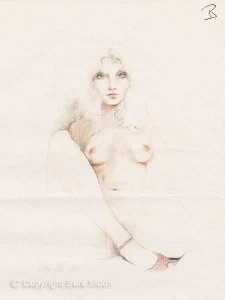Nude Sketch 10l by Sara Moon