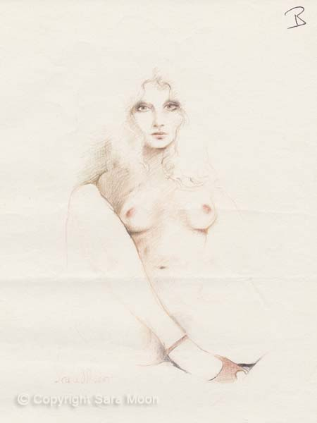 Nude Sketch 10l by Sara Moon
