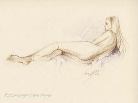 Nude Sketch No.3 by Sara Moon