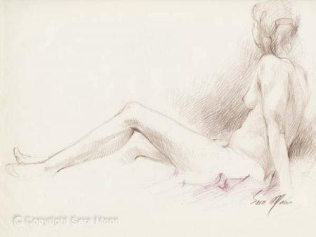 Nude Sketch No.4 by Sara Moon