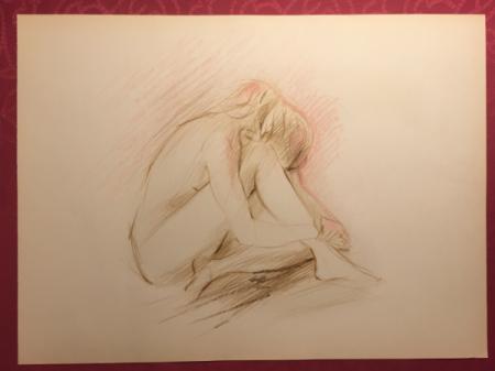 Nude Sketch No.5 by Sara Moon