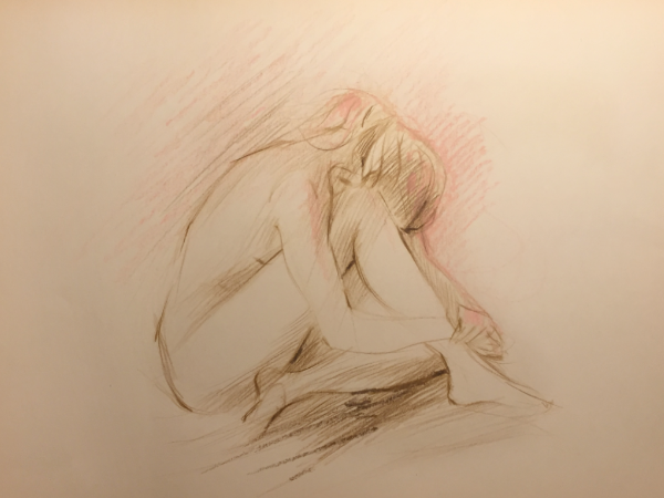 Nude Sketch No.5 by Sara Moon