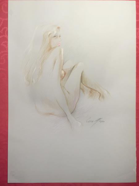 Original Nude Sketch No.6 by Sara Moon