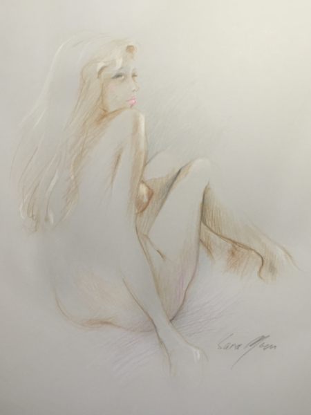 Nude Sketch No.6 by Sara Moon