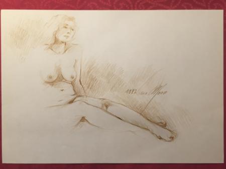 Nude Sketch 1982 by Sara Moon