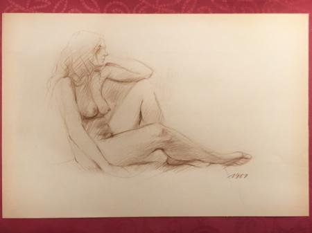 Nude Sketch 1987 by Sara Moon