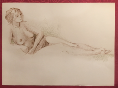 Original Nude Sketch No.1 by Sara Moon