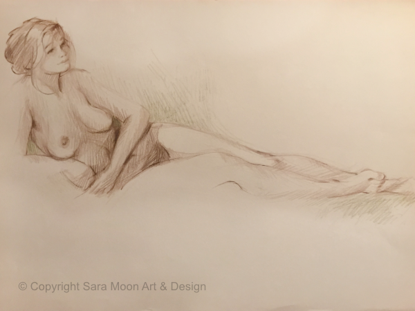 Reclining Nude No.1 by Sara Moon