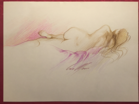 Original Reclining Nude No.2 by Sara Moon