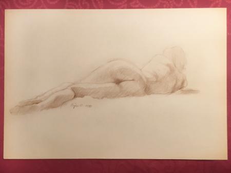 Nude Sketch 1980 by Sara Moon