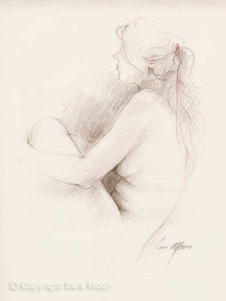'Nude Sketch Vll' by Sara Moon