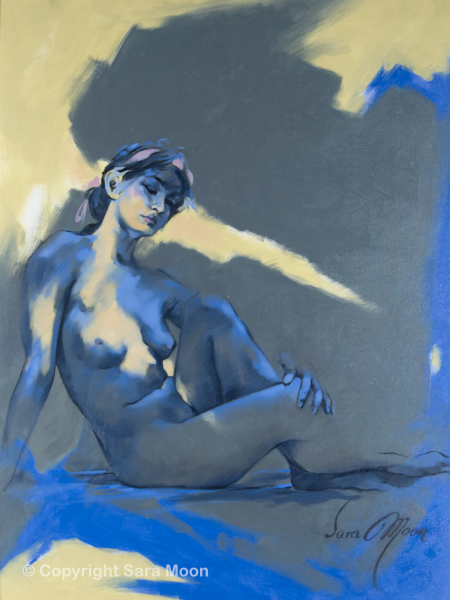 'Blue Nude l' by Sara Moon