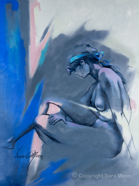 'Blue Nude ll' by Sara Moon