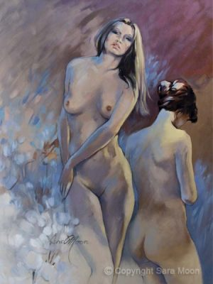 Nude Study 1 in Oils by Sara Moon
