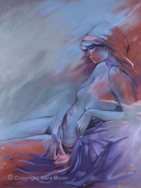 'Blue Nude ll' by Sara Moon