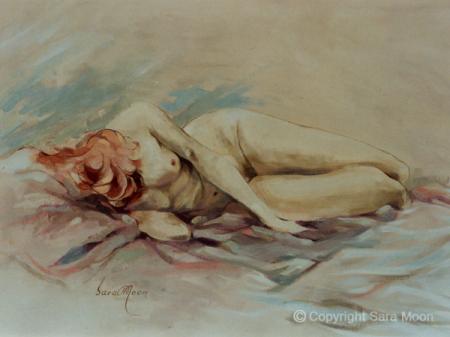 'Sleeping Nude' by Sara Moon