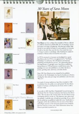 Sara Moon Forever Calendar Bijan Bio Page