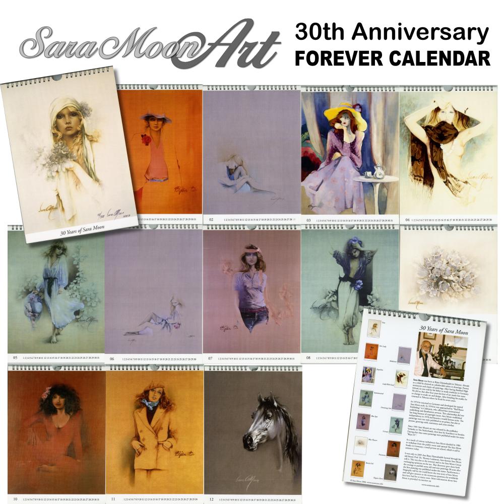 Sara Moon Anniversary Forever Calendar