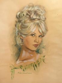 Bridgette BardotAn early artwork by Bijan