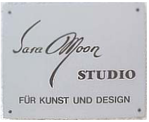 Sara Moon studio Plaque