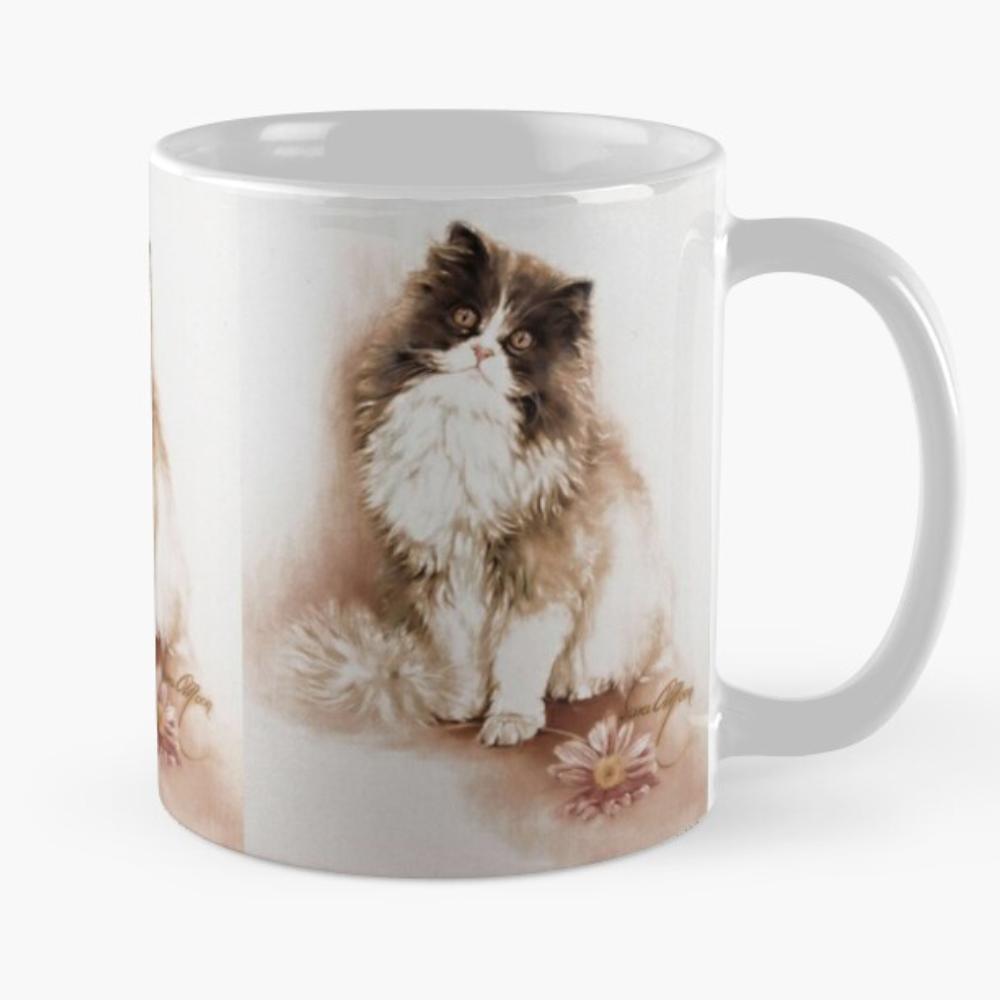 Cat with ~Flowers Mug by Sara Moon