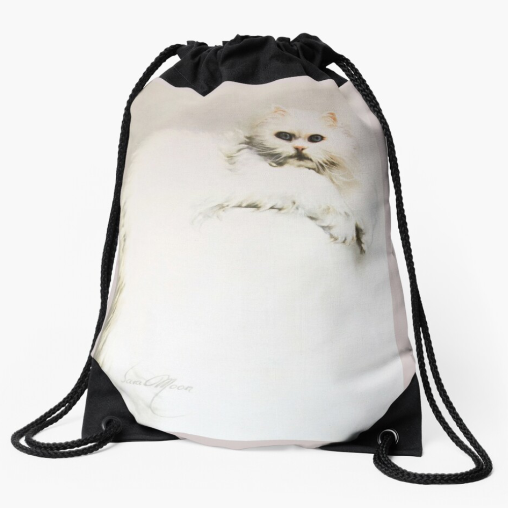 'White Persian Cat' Bags by Sara Moon