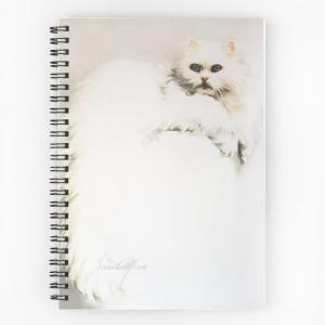 'White Persian Cat' Notepad by Sara Moon