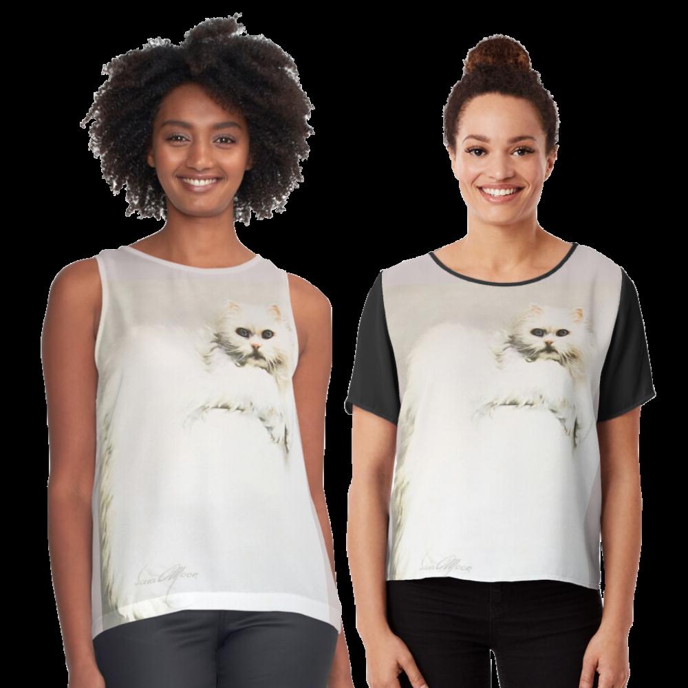 'White Persian Cat' T-Shirts by Sara Moon