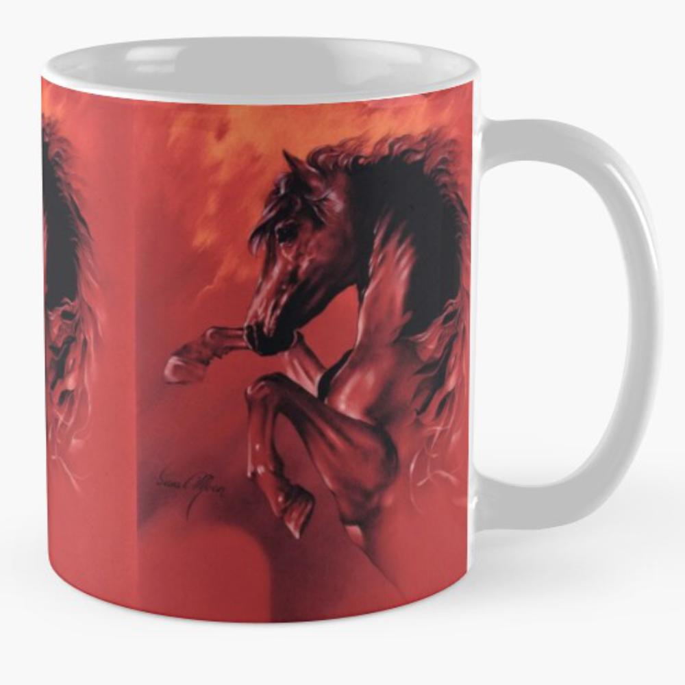 'Red Fury' Mugs by Sara Moon
