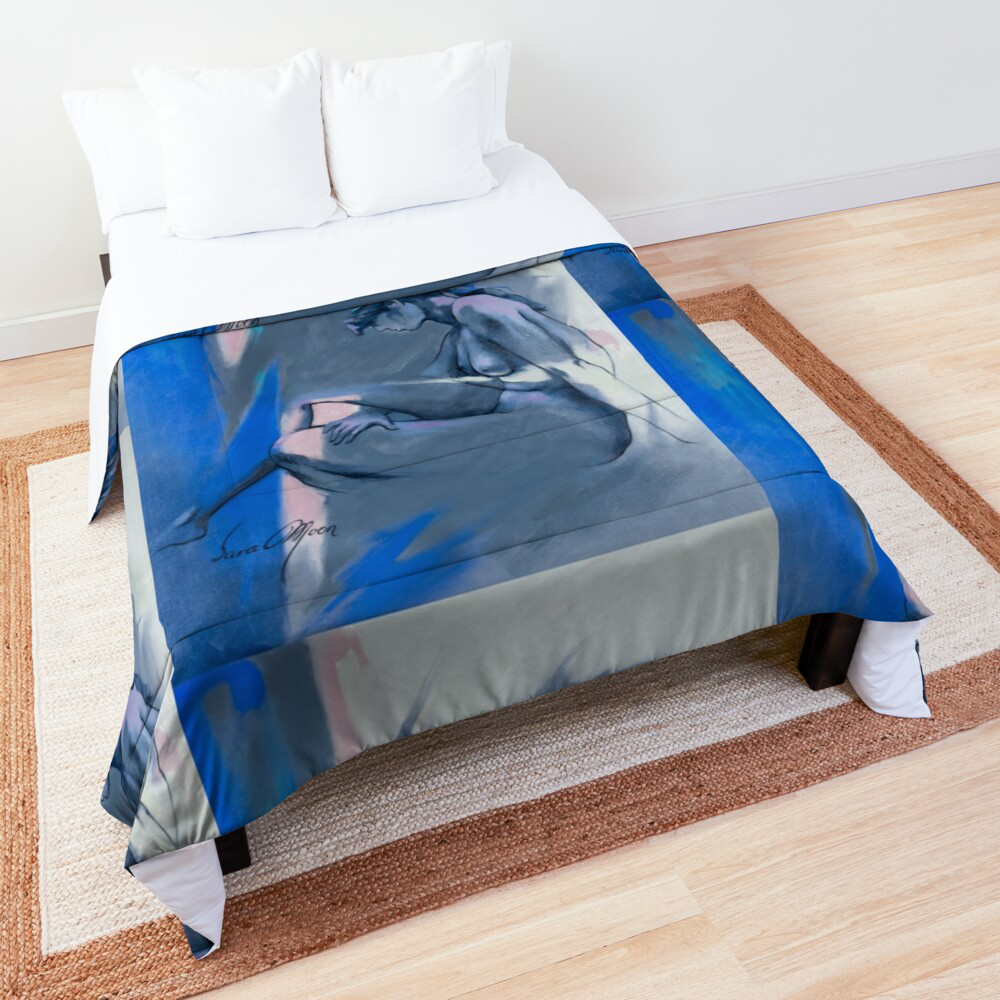 'Blue Nude l' Throw by Sara Moon