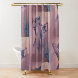 'Blue Nude ll' Shower Curtain by Sara Moon