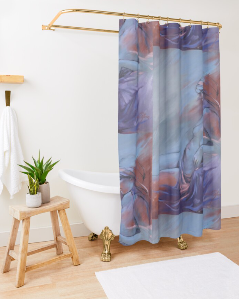 'Reclining Nude' Shower Curtain by Sara Moon