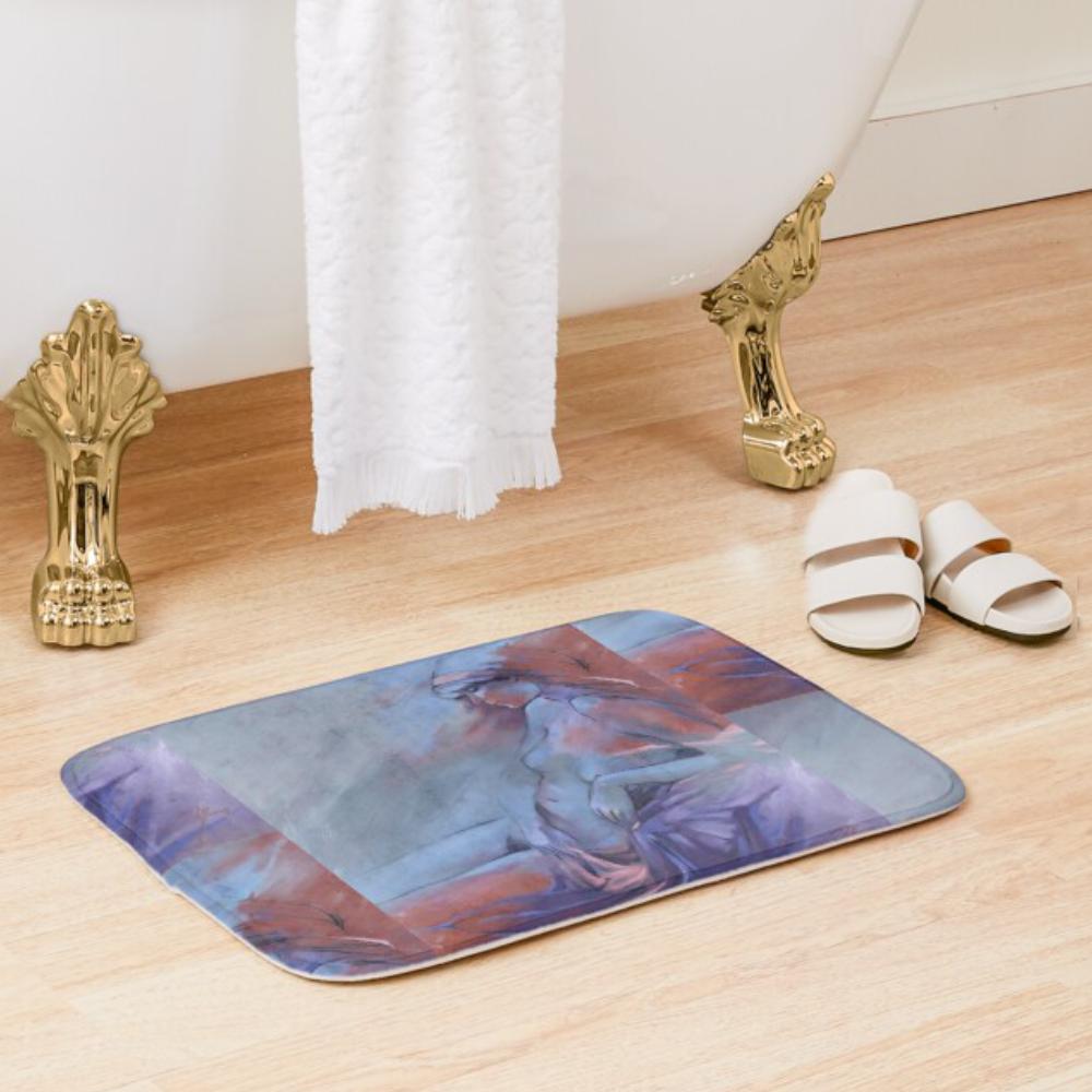'Reclining Nude' Bath Mat by Sara Moon
