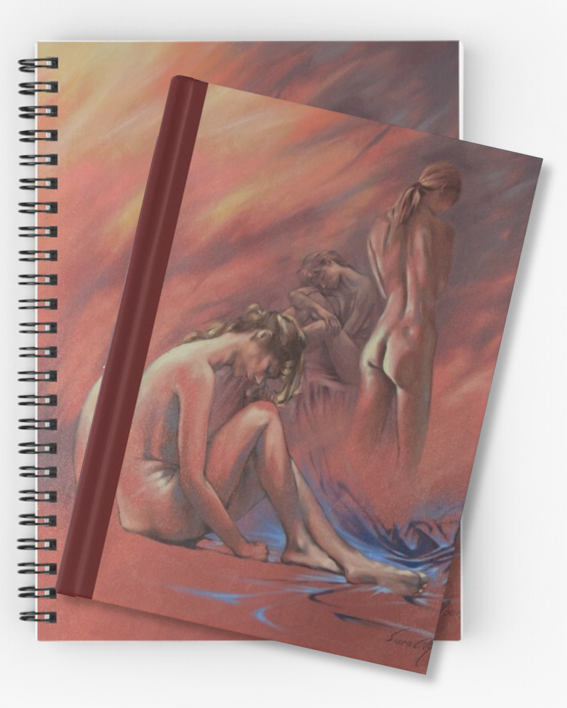 'Blue Nude l' Notebooks & Journals by Sara Moon
