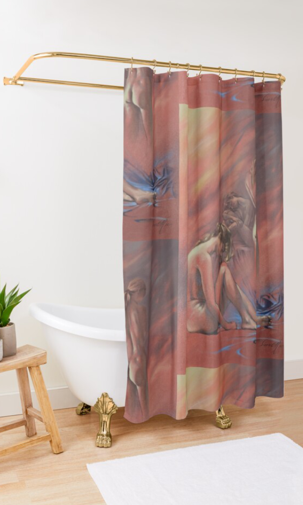 'Relaxing Break' Shower Curtain by Sara Moon