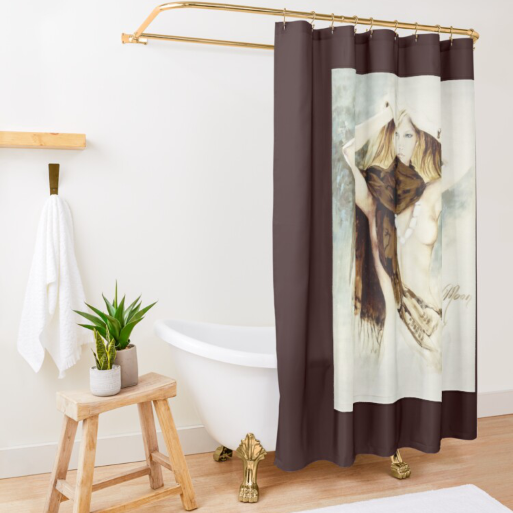 'Tribal Wrap' Shower Curtain by Sara Moon