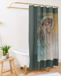 'Woodland Nymph' Shower Curtain by Sara Moon