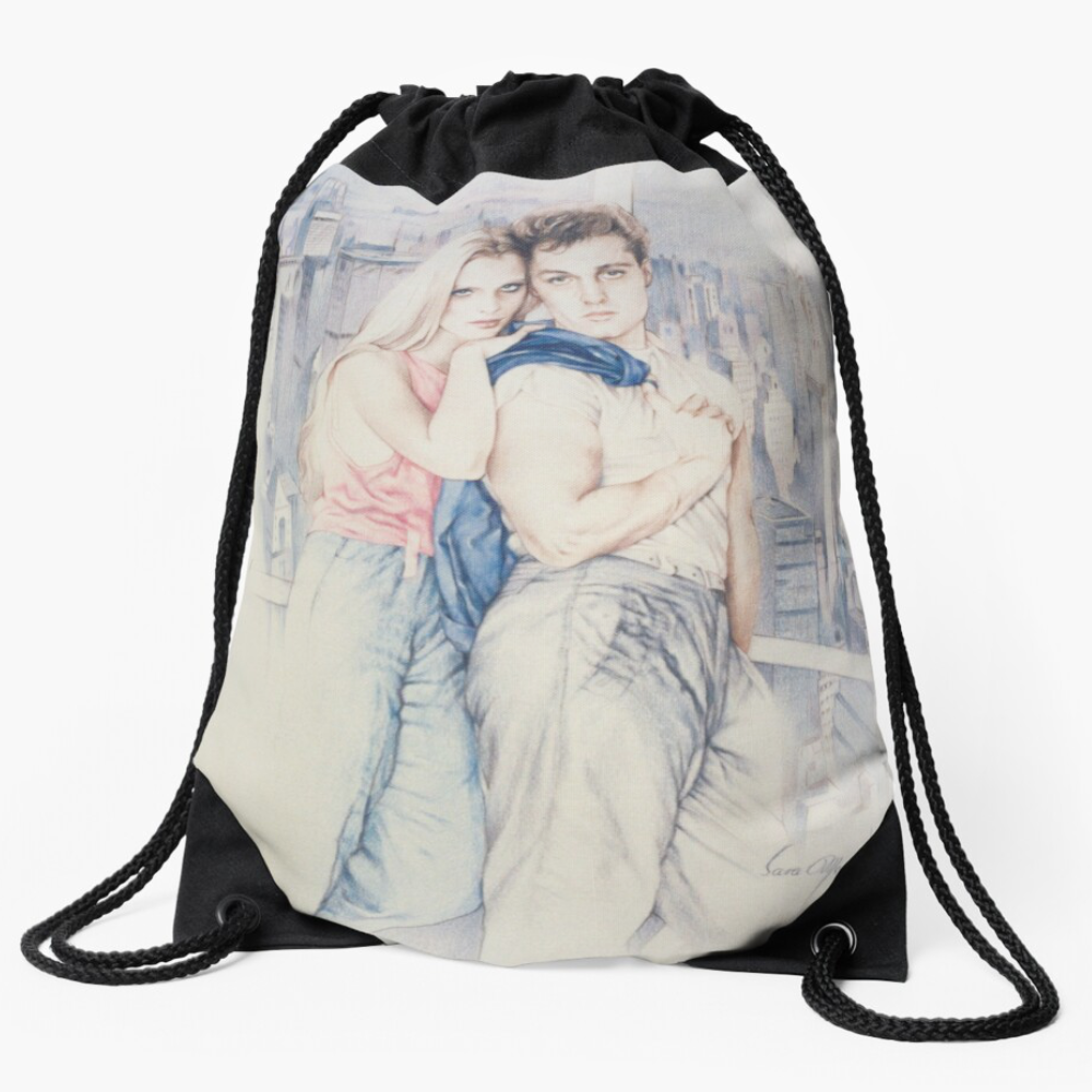 'City Dreamers' Draw-String Bag by Sara Moon