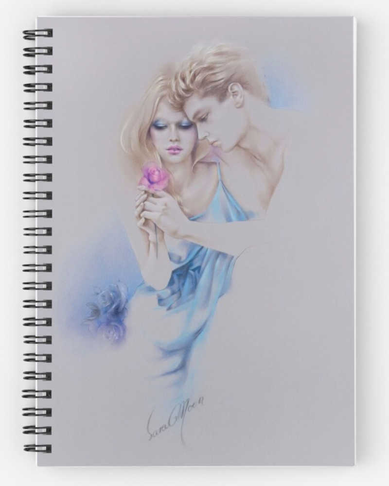 'Geschenkte Rose' Notepad by Sara Moon