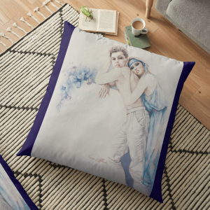 'Gentle Moments' Pillow by Sara Moon