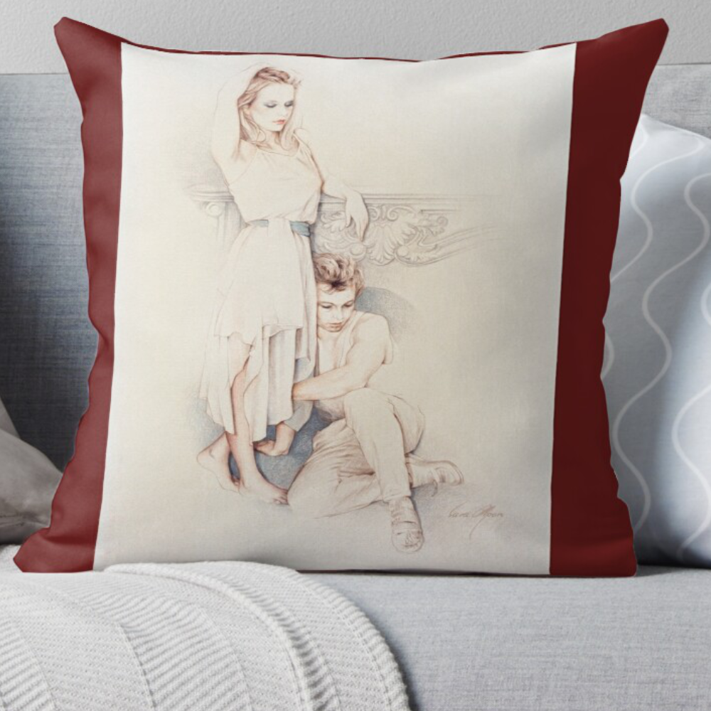 'Affection' Pillow by Sara Moon