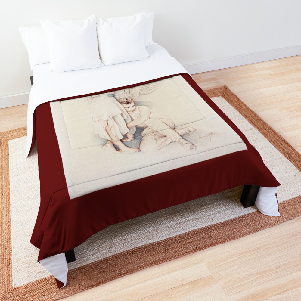 'Pensive' Comforter by Sara Moon