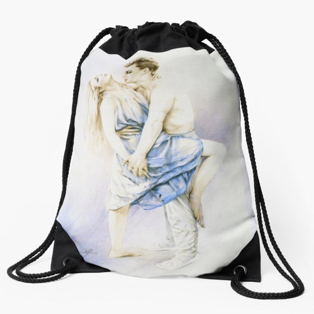 Tango Draw-String Bag by Sara Moon