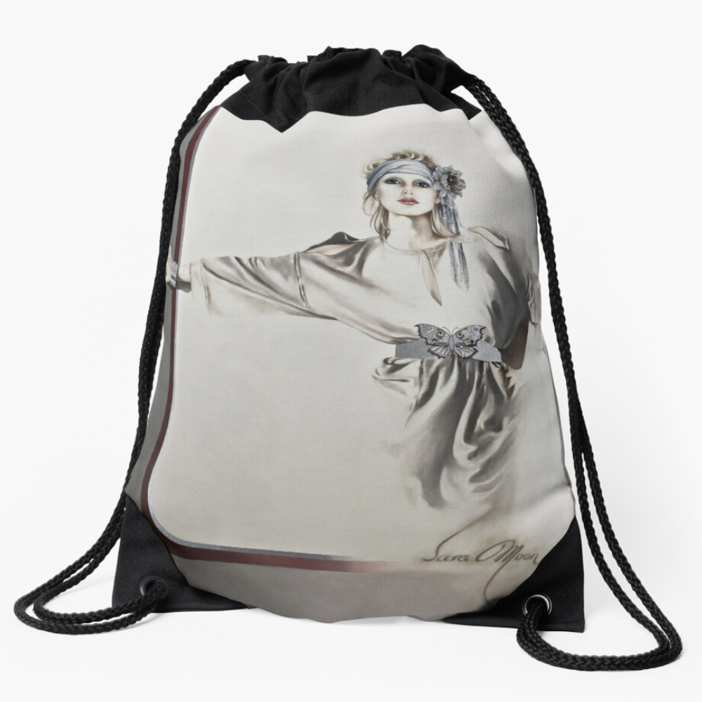 'Butterfly' Draw String Bag by Sara Moon