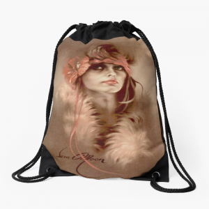 'Her Eyes' Draw-String Bag by Sara Moon