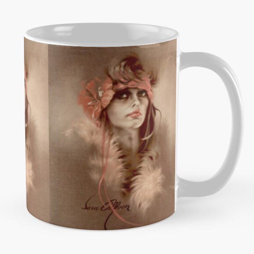 """Her Eyes"" Mug by Sara Moon"